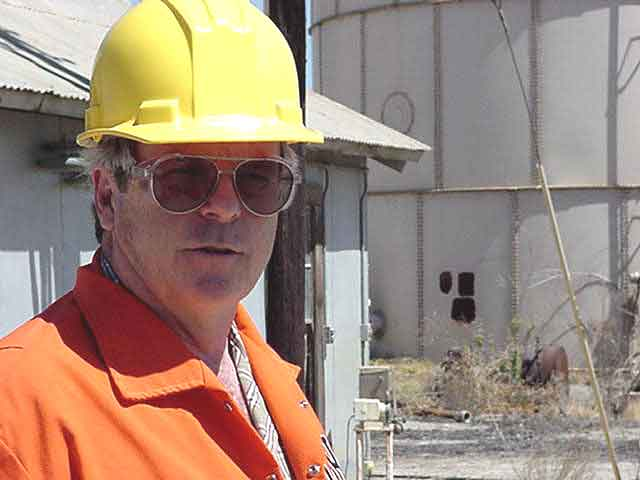 Photograph of Dan Napier in the Refinery