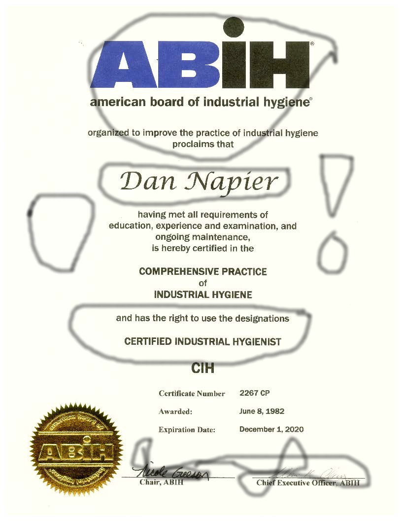 ABIH Certification, Check the